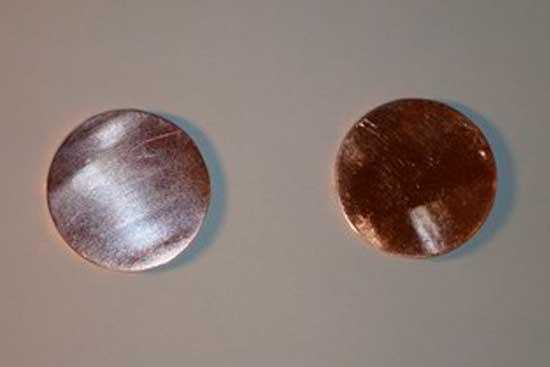 *Пятак медный. Чистая вакуумная медь. Цена =270 рублей; 450 рублей; 540 рублей - Диаметром =30 мм.; =40 мм.;=50 мм.