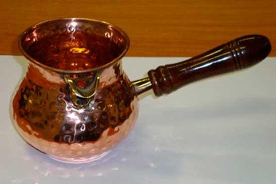 № 1 *Турка медная 350 мл. Чистая вакуумная медь, толстостенная, ручная работа. Цена = 3249 рублей.