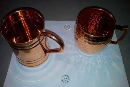 *Чашки медные с биокорректирующим элементом. Цена =1850+360=2210 рублей ;и 2160+360=2520 руб.